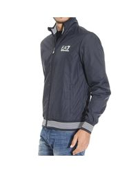 EA7 | Blue Down Jacket for Men | Lyst