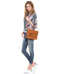 Sophie Hulme - Brown Metal Tab Handbag - Tan - Lyst