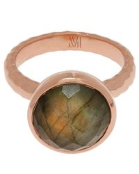 Monica Vinader | Metallic Rose Gold-plated Labradorite Medina Facet Ring | Lyst