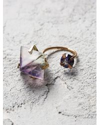 Free People - Metallic Aoko Su Womens Fluorite Two Moons Ring - Lyst