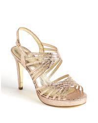 Adrianna Papell | Metallic Aiden Platform Sandals | Lyst