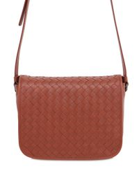 Bottega Veneta Brown Intrecciato Nappa Leather Shoulder Bag