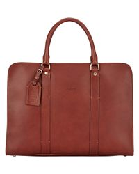 Boldrini Selleria Brown Double-handle Briefcase for men