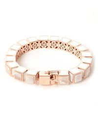 Eddie Borgo Pink Rose Gold-plated Agate Cube Bracelet