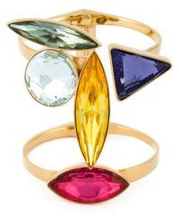 Ca&Lou - Metallic Geometric Glass Cuff - Lyst