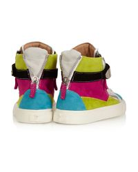 Giuseppe Zanotti Multicolor Suede Sneakers
