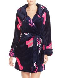 Betsey Johnson | Blue Print Plush Robe | Lyst