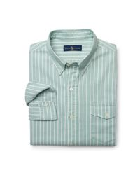 Polo Ralph Lauren - Green Striped Pullover Oxford Shirt for Men - Lyst