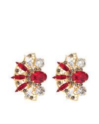 Anton Heunis | Red Crystal Fan Earrings | Lyst