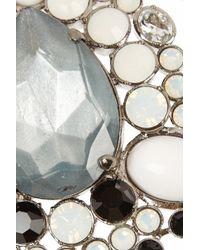 Vickisarge - Metallic Adele Palladium-Plated Swarovski Crystal Necklace - Lyst
