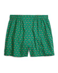 Brooks Brothers - Green Traditional Fit Dog Print Boxers for Men - Lyst