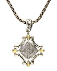 Effy | Metallic Balissima Sterling Silver Necklace With 18k Yellow Gold And Diamond Pendant | Lyst