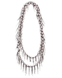 Samira 13 - Gray Fringe Pearl Necklace - Lyst