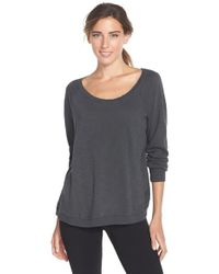 Alternative Apparel | Black Relaxed Slub Pullover Top | Lyst