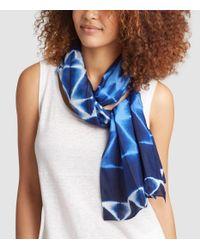 Eileen Fisher - Blue Exclusive Shibori Silk Prism Scarf - Lyst