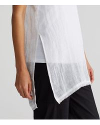 Eileen Fisher - White Organic Linen Gauze V-neck Tunic - Lyst