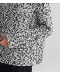 Eileen Fisher - Black Peruvian Organic Cotton Funnel Neck Top - Lyst