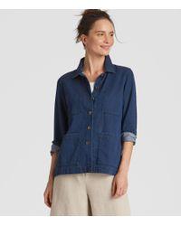Eileen Fisher - Blue Organic Cotton Denim Shirt Jacket - Lyst