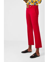 Gucci Red Stretch Pant With Double G