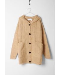 Chloé - Natural Hooded Cardigan - Lyst