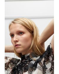 Valentino Black Butterfly Printed Blouse