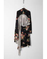 Vetements - Black Floral Draped Dress - Lyst
