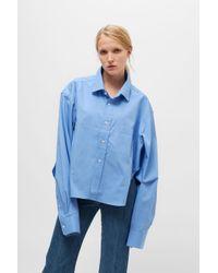 Vetements - Blue Oversized Shirt - Lyst