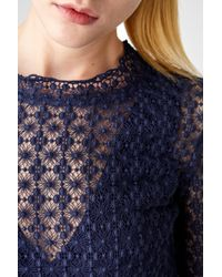 See By Chloé Blue Floral Lace Dress
