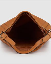 El Corte Inglés Brown Camel Hobo Bag With Side Zips