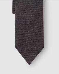 Mirto - Plain Brown Wool Tie for Men - Lyst