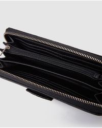 Guess Wo Black Wallet With Embossing And Zip