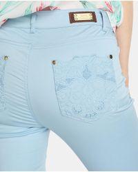 Yera - Blue Skinny Trousers - Lyst