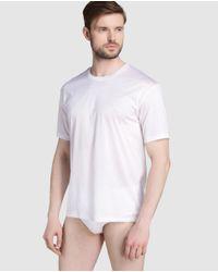 Hanro | White Short Sleeved Mercerised Cotton Vest for Men | Lyst