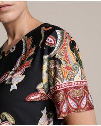 Vestido De Punto Y Manga Corta Con Estampado De Cachemires Woman El Corte Inglés de color Multicolor