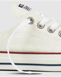 Converse - All Star Chuck Taylor White Canvas Trainers - Lyst