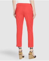 Lauren by Ralph Lauren - Pink Coral Cropped Trousers - Lyst