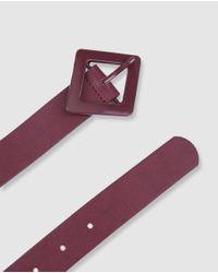 Cinturón De Mujer Burdeos Con Hebilla Rombo Jo & Mr. Joe de color Purple