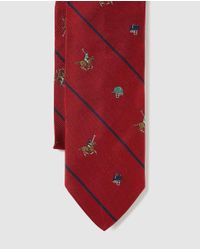 Polo Ralph Lauren - Red Silk Tie With Horse Print for Men - Lyst