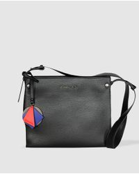 Robert Pietri - Wo Black Crossbody Bag With Granulated Effect - Lyst