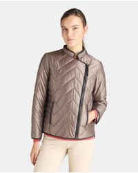 Zendra El Corte Inglés - El Corte Inglés Zendra Taupe Brown Quilted Jacket - Lyst