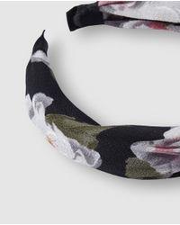 Diadema En Color Negro Estampada De Flores El Corte Inglés de color Multicolor
