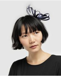El Corte Inglés Navy Blue Clip Fascinator With A Bow And Feathers