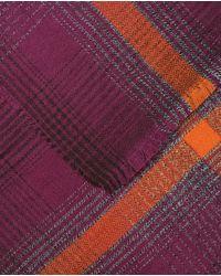 Jo & Mr. Joe - Xl Purple Checked Scarf for Men - Lyst