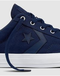 Converse Star Player Navy Blue Canvas Trainers for men