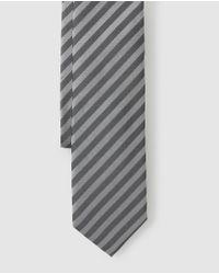 Corbata De Seda Rayas Multicolor HUGO de hombre de color Gray