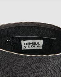 Bolso Banana De Piel En Negro Bimba Y Lola de color Black