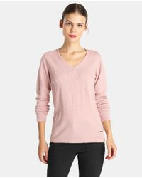Yera - Pink Sweater With Beading - Lyst