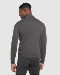 Jersey De Hombre Gris Con El Cuello Alto Gant de hombre de color Gray