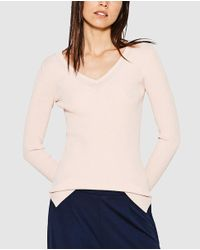 Esprit - Pink Ribbed Nude Sweater - Lyst