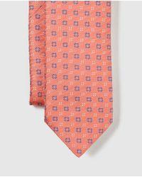 Mirto - Multicolor Orange Embellished Print Silk Tie for Men - Lyst